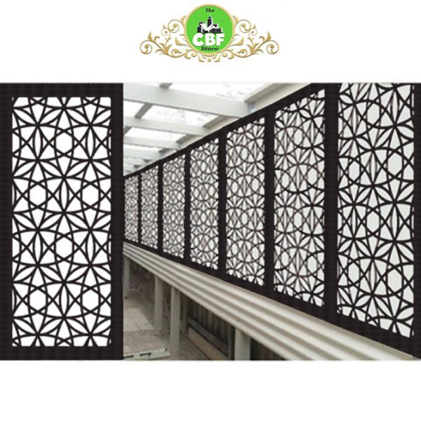 Madrid Australian Compressed Hardwood smooth sealed charcoal Privacy Garden Screens Australian Made 600 x 1200 mm 9 mm
