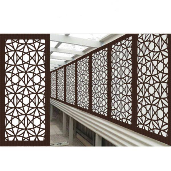 Madrid Australian Compressed Hardwood smooth sealed jarrah Privacy Garden Screens Australian Made 600 x 1200 mm 9 mm 3
