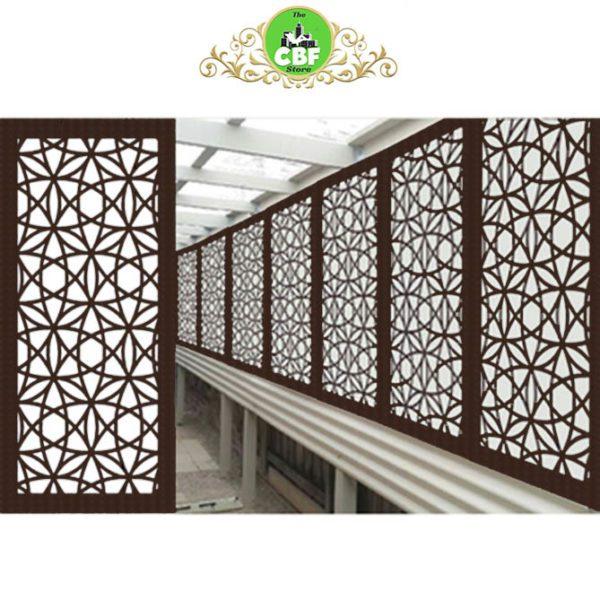 Madrid Australian Compressed Hardwood smooth sealed jarrah Privacy Garden Screens Australian Made 600 x 1200 mm 9 mm
