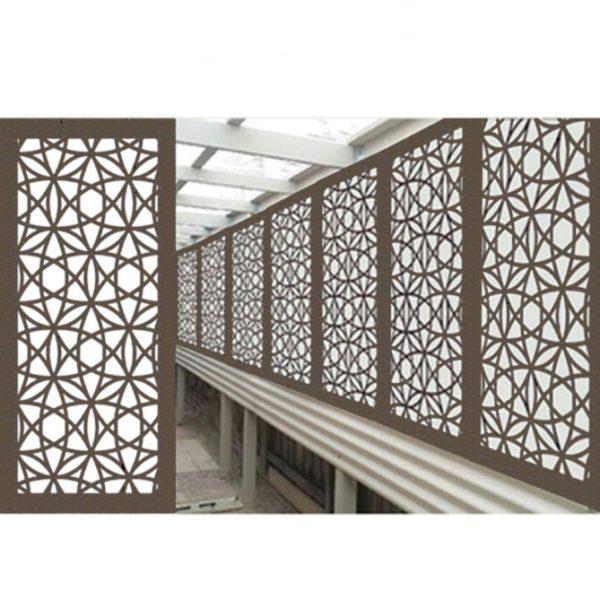 Madrid Australian Compressed Hardwood woodsman raw Privacy Garden Screens Australian Made 600 x 1200 mm 9 mm 3