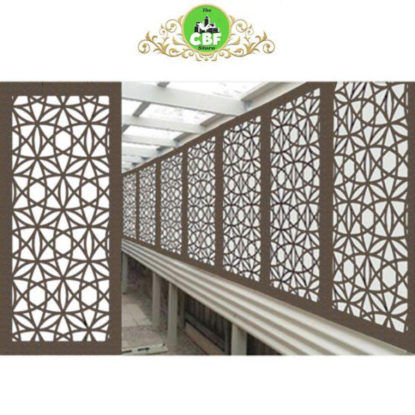 Madrid Australian Compressed Hardwood woodsman raw Privacy Garden Screens Australian Made 600 x 1200 mm 9 mm