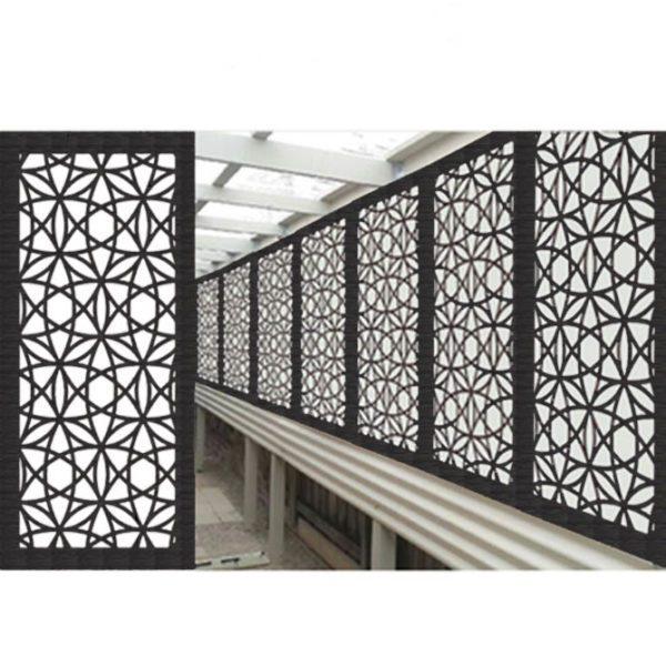 Madrid Australian Compressed Hardwood woodsman sealed charcoal Privacy Garden Screens Australian Made 600 x 1200 mm 9 mm 3