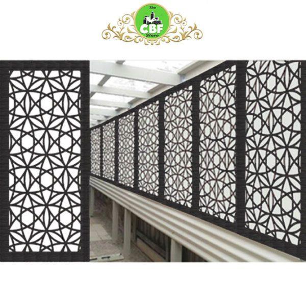 Madrid Australian Compressed Hardwood woodsman sealed charcoal Privacy Garden Screens Australian Made 600 x 1200 mm 9 mm