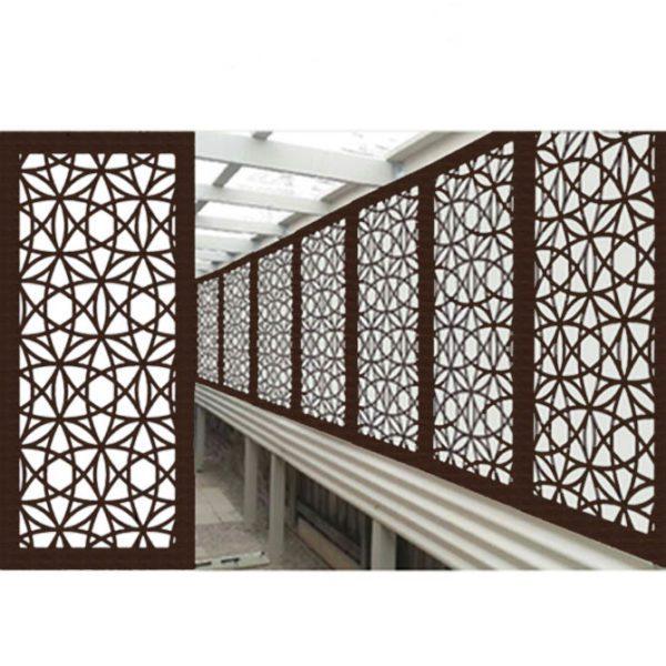 Madrid Australian Compressed Hardwood woodsman sealed jarrah Privacy Garden Screens Australian Made 600 x 1200 mm 9 mm 3