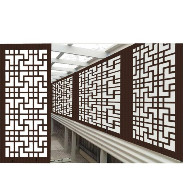 Tokyo Australian Compressed Hardwood smooth sealed jarrah Privacy Garden Screens Australian Made 600 x 1200 mm 9 mm