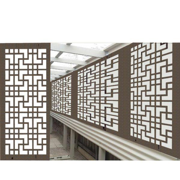 Tokyo Australian Compressed Hardwood woodsman raw  Privacy Garden Screens Australian Made 600 x 1200 mm 9 mm