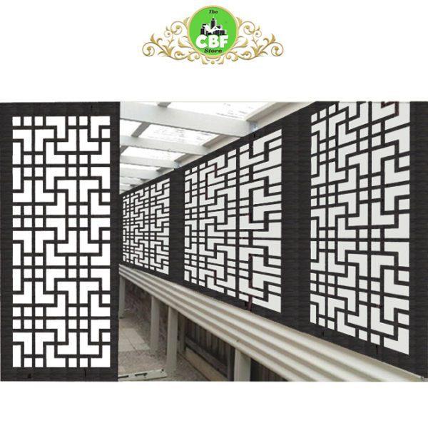 Tokyo Australian Compressed Hardwood woodsman sealed charcoal Privacy Garden Screens Australian Made 600 x 1200 mm 9 mm