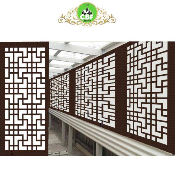 Tokyo Australian Compressed Hardwood woodsman sealed jarrah Privacy Garden Screens Australian Made 600 x 1200 mm 9 mm