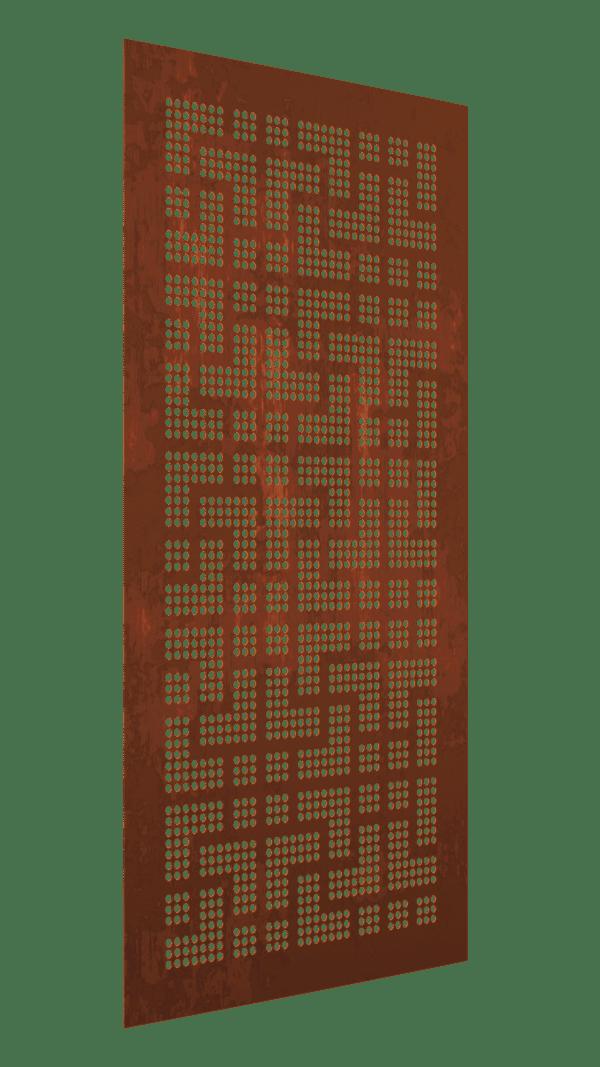 The Geisha Australian Cor-Ten Privacy Garden Screens Australian Made 600x1200mm 1.6mm