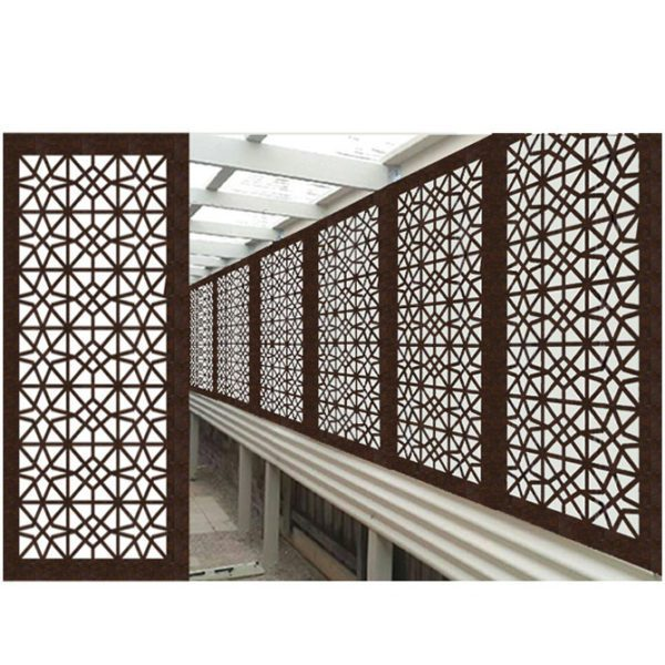 Venice Australian Compressed Hardwood smooth sealed jarrah Privacy Garden Screens Australian Made 600 x 1200 mm 9 mm