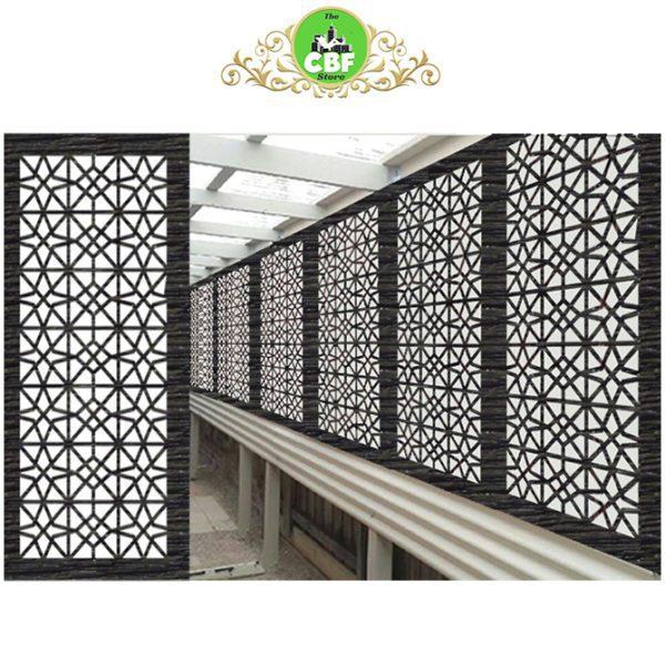 Venice Australian Compressed Hardwood woodsman sealed charcoal Privacy Garden Screens Australian Made 600 x 1200 mm 9 mm