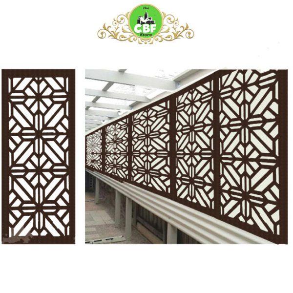Washington – Australian Compressed Hardwood smooth sealed jarrah– Privacy Garden Screens Australian Made – 600 x 1200 mm – 9 mm