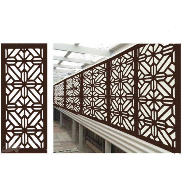 Washington – Australian Compressed Hardwood woodsman jarrah– Privacy Garden Screens Australian Made – 600 x 1200 mm – 9 mm