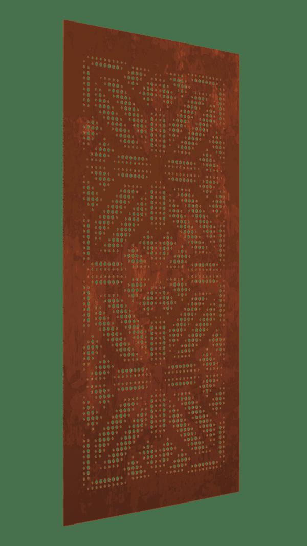 The Mandalorian Australian Cor-Ten Privacy Garden Screens Australian Made 600x1200mm 1.6mm